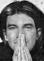 Antonio Banderas portrait HQ by th3blackhalo