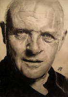 Anthony Hopkins portrait HQ by th3blackhalo