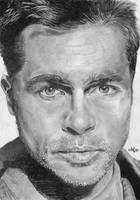 Brad Pitt portrait HQ by th3blackhalo