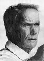 Clint Eastwood portrait HQ by th3blackhalo