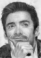 Hugh Jackman portrait HQ by th3blackhalo