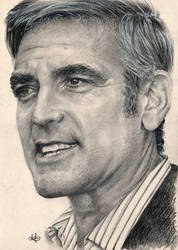 George Clooney portrait HQ by th3blackhalo