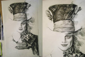 Mad Hatter WIP 03 - the hat by th3blackhalo