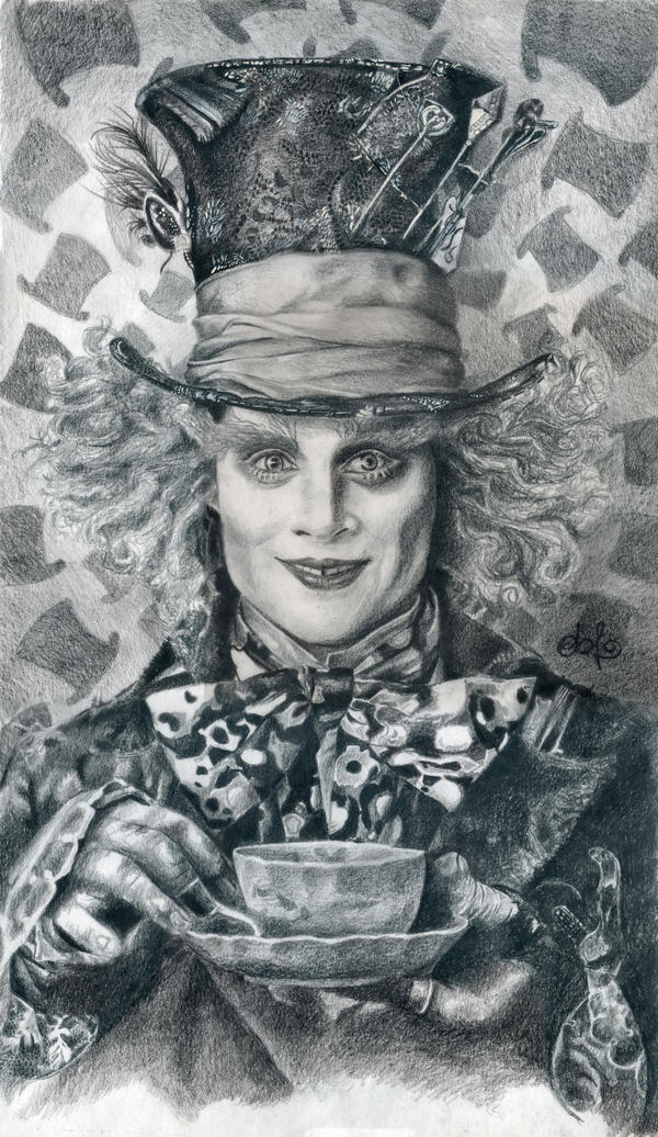 Johnny Depp Mad Hatter Drawing Mad Hatter - Johnny Depp HQ by