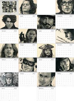 Johnny Depp Calendar Preview IT