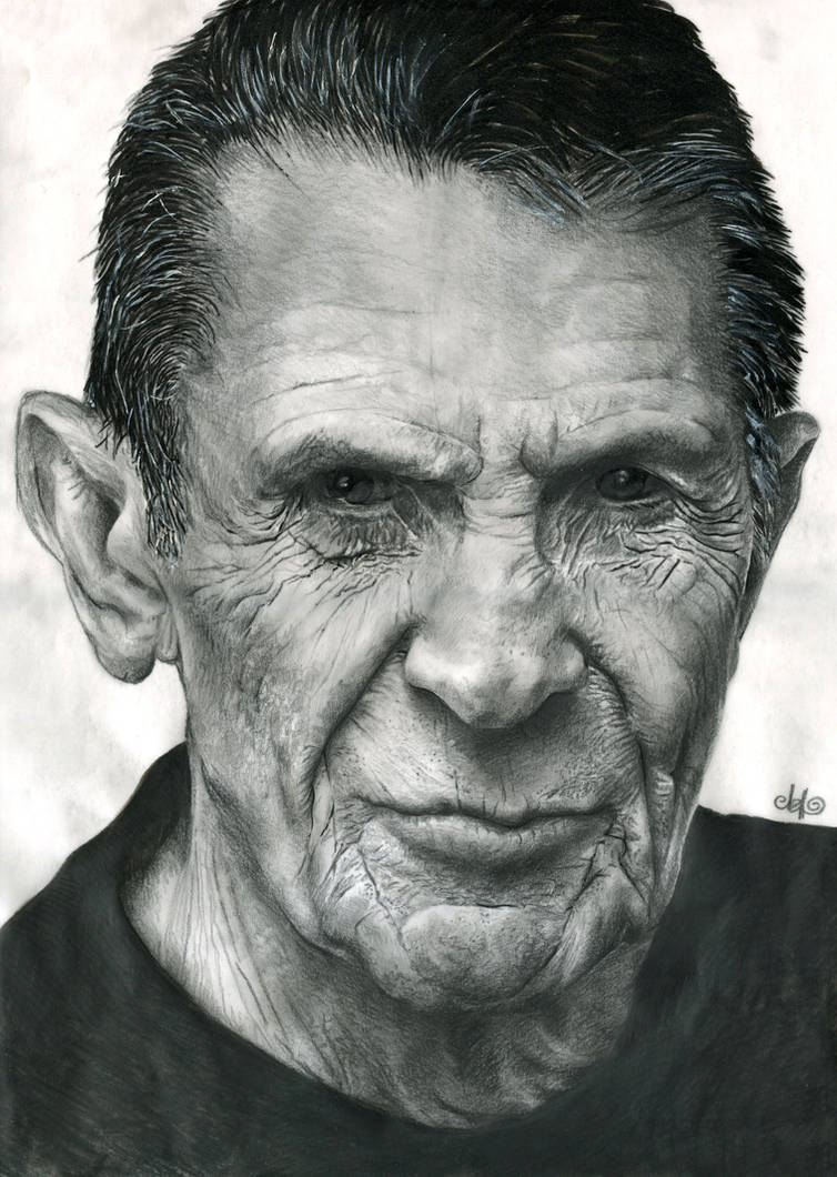 Leonard Nimoy portrait by th3blackhalo