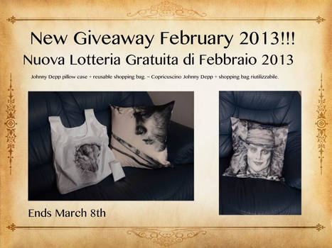 New Giveaway February 2013!!!