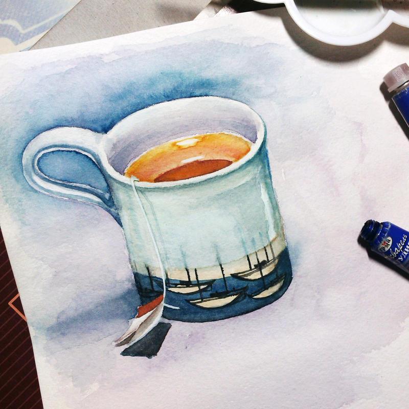 Cup of tea by Kosharik