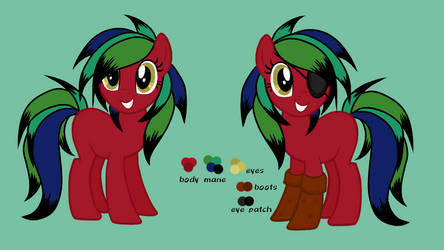 Eye patched pony by PieRiteYT