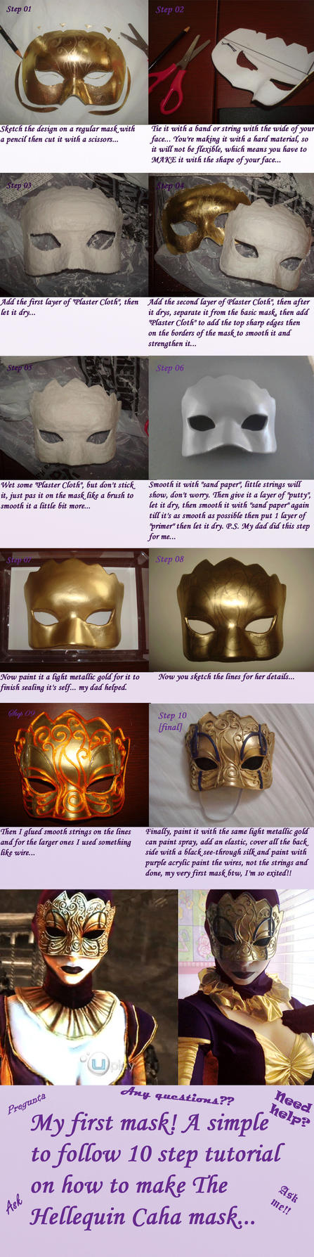 The Hellequin (Caha) mask tutorial by Josumi-kun