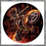 Hell Rider Clock from Anne Stokes