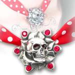 Skull Rose Pendant by Alchemy Gothic