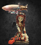 Crimson Steampunk Fairy by Myka Jelina