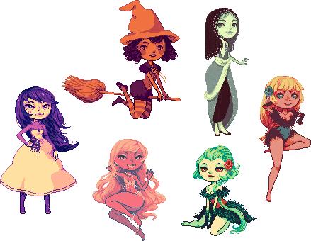 Random Palette Ladies by akujin-joutei