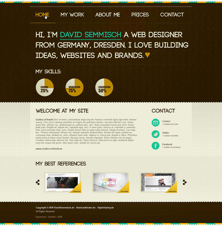 brown portfolio  big header by termi1992 d31bm6t Web Interface Showcase: Effective & Clear Web Designs