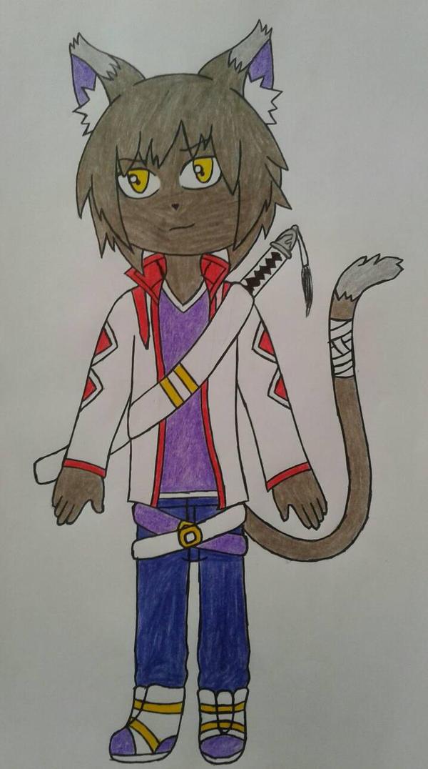 Kaito cat oc by Lobita02