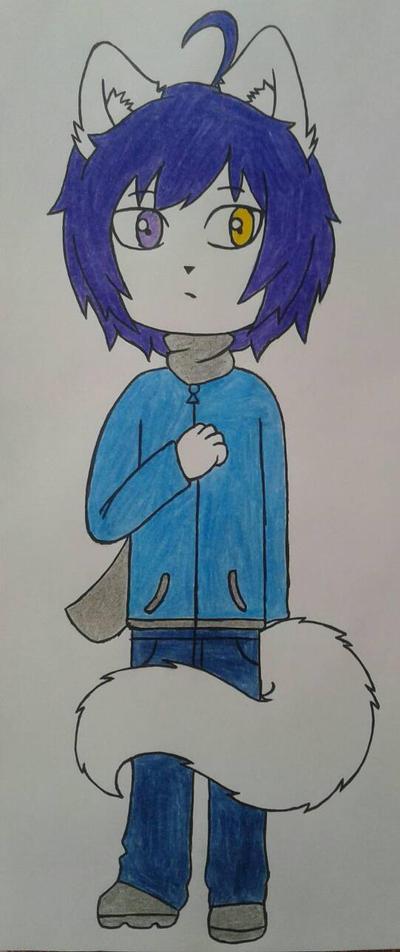 Katzuo wolf oc by Lobita02