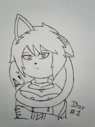 Inktober day #1 by YamiRaccoon