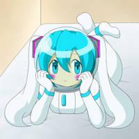 Hatsune Miku in spacesuit 7 Redo