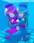Diving suit girls