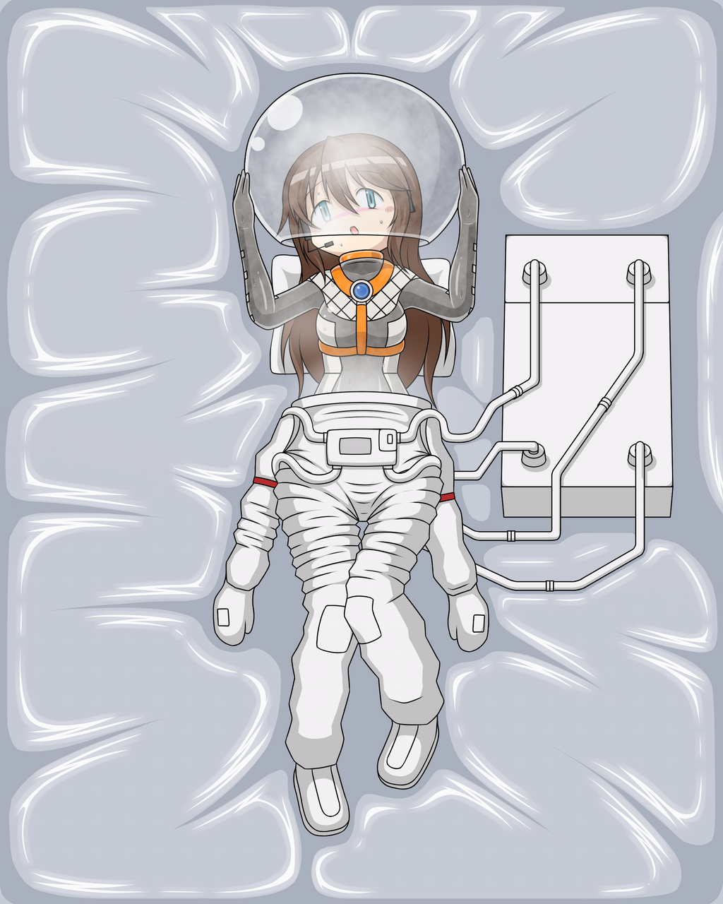 A Girl Taking off Space Suit by Nekomi4 on DeviantArt