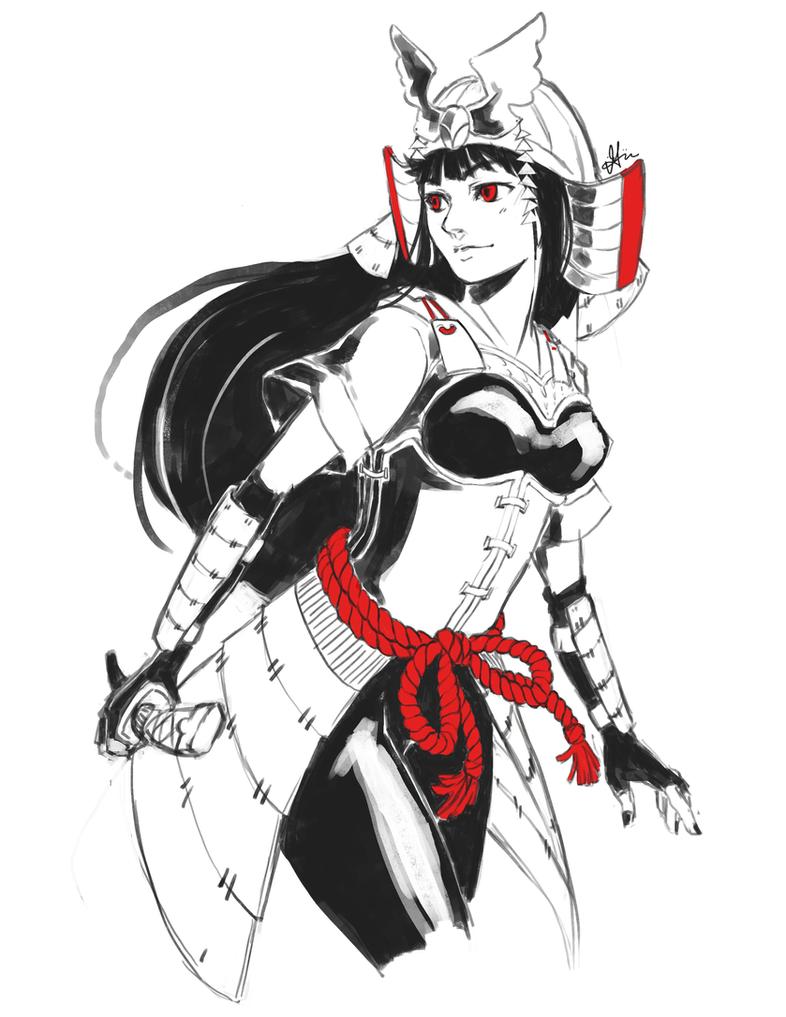 samurai girl by einiv on deviantart