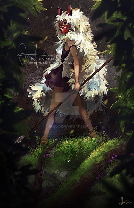 Princess Mononoke by einiv