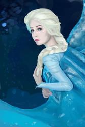 Kikolondon Elsa Cosplay Photo Study