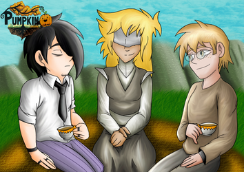 Tea With Friends .:Pumpkin-Online Fanart:. by Ferdie-Vampyr