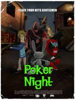 Poker Night Poster L4D Style by PrawnBoy101