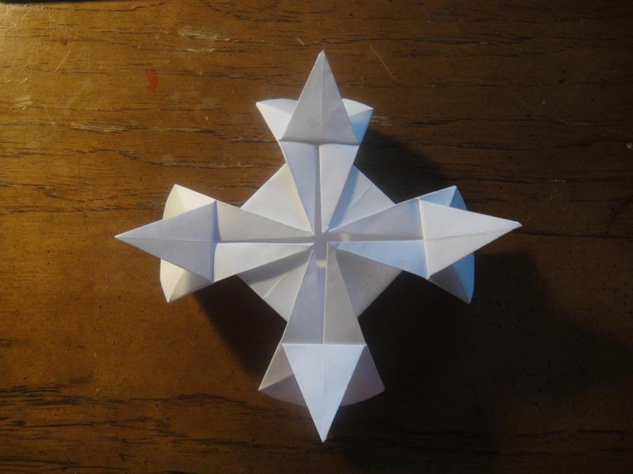 origami gothic cross by catherineishida on deviantart
