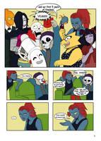 Under-Upper AU: Ch1 Page3 by MichPajamaArtist