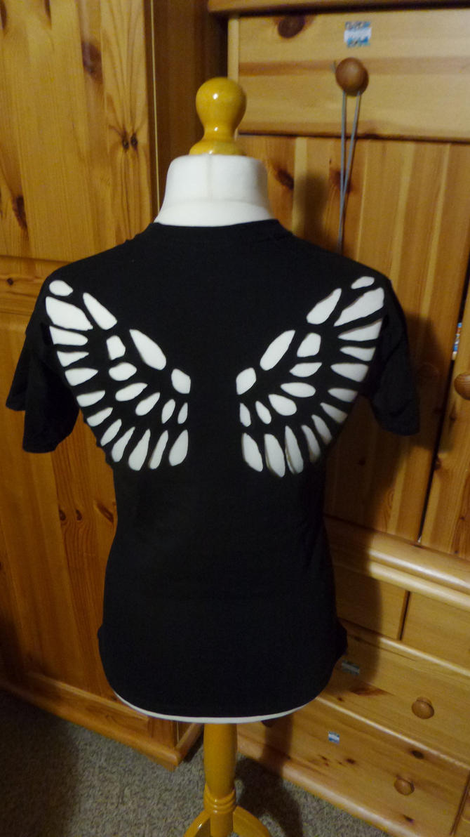 Shirt with Wing Cutouts by Cookikeks