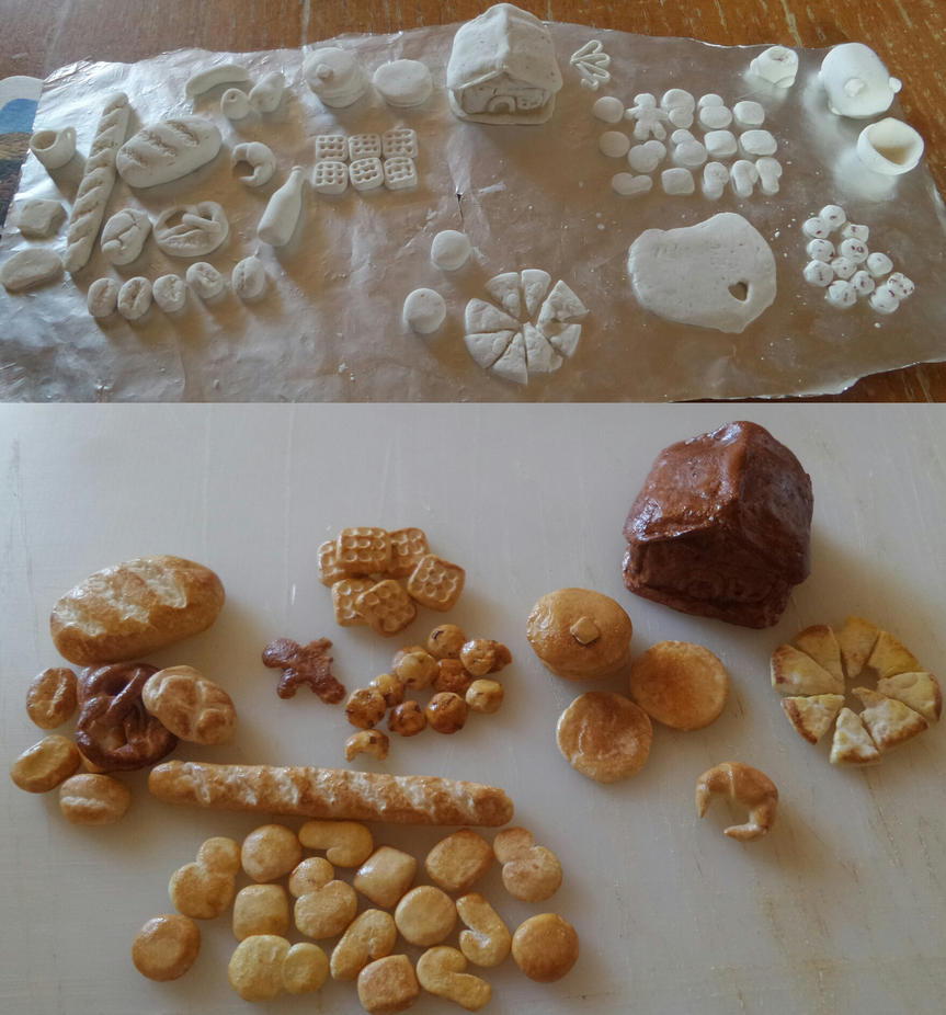Miniature Food from Salt Dough by Cookikeks