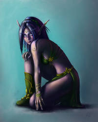 Night elf Druid by ZennithVanFalkon