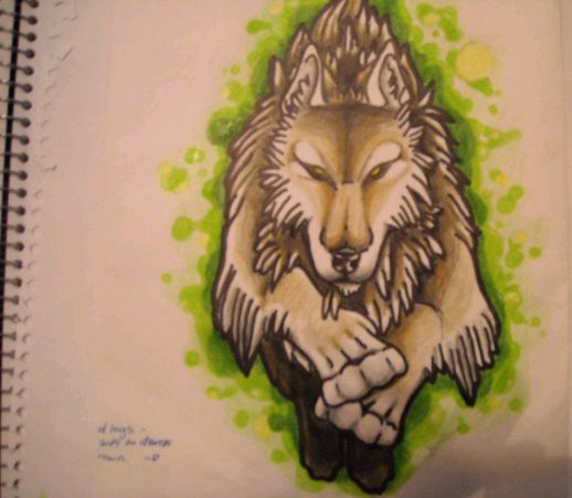 Run Free - sleeve tattoo