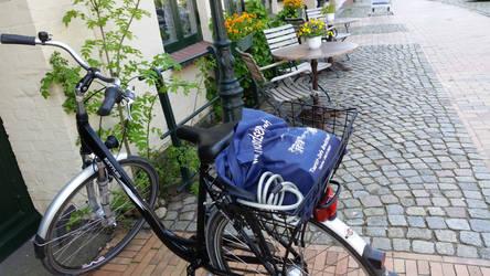 Fahrradpause Cafe Frida in Bredstedt Nordfriesland