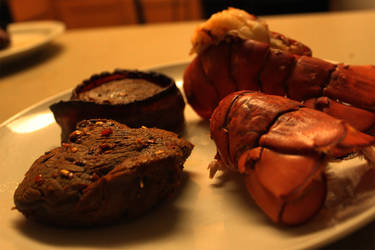 Filet Mignon and Lobster Tails