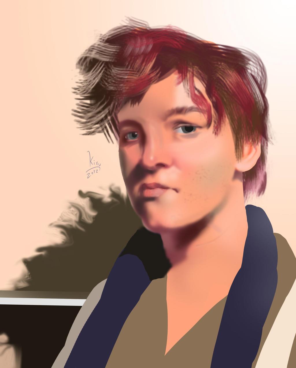 Four hour Portrait by KitXune