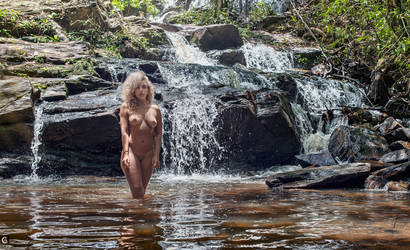 nymph of the sacred waterfall by caiusaugustus