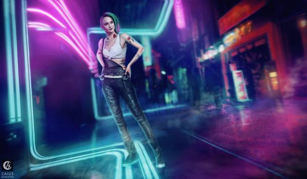 SpeedArt - Judy Cyberpunk 2077 Sophie Turne