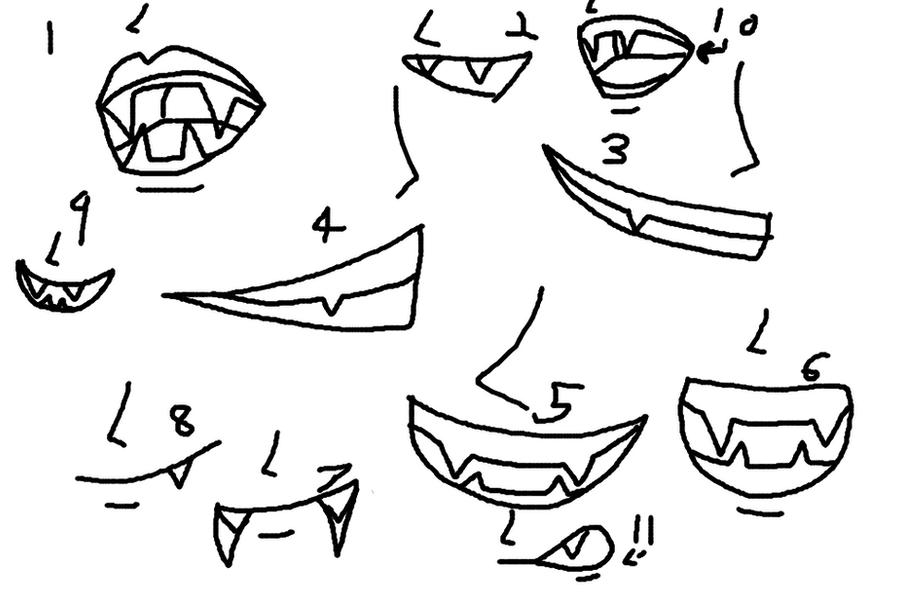 Anime Vampire Teeth Drawing Www Imagessure Com