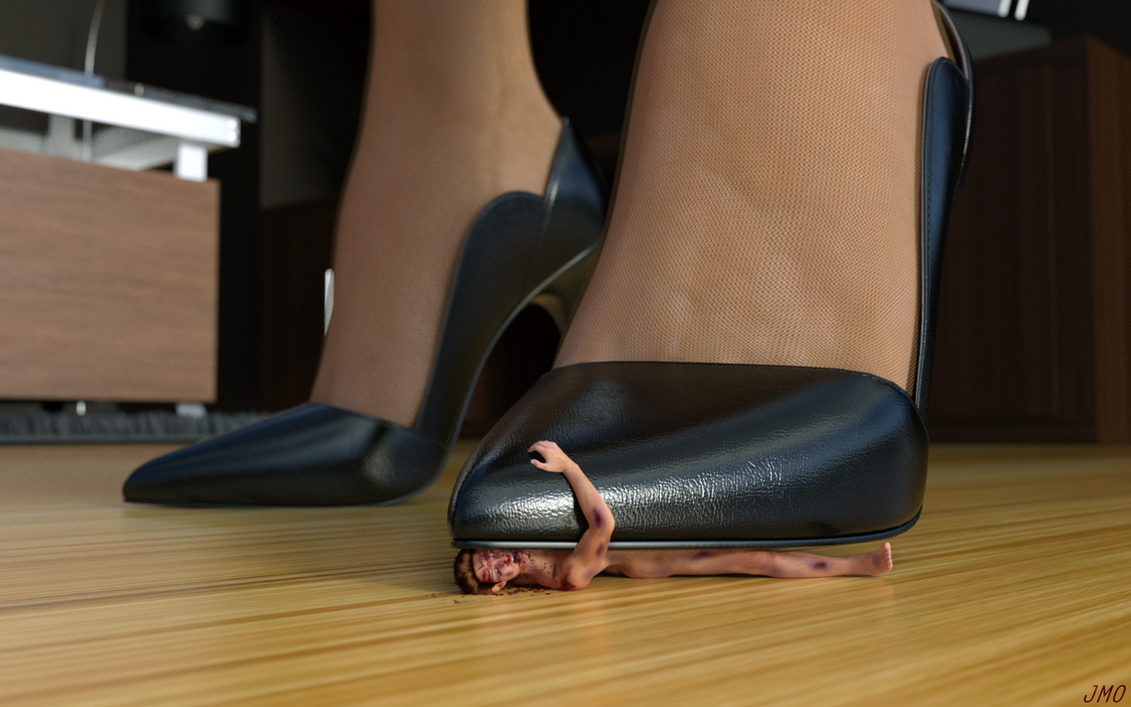 Trampled and crushed beneath high heel shoes fetish maybe