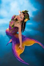 Mermaid on land