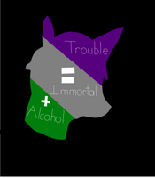 Alcohol + Immortal = Trouble (with title) by Animatorsnake