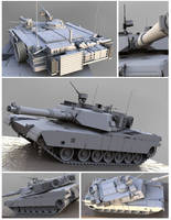 Abrams M1A2 by Mmoose