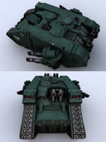 Warhammer 40k Landraider by Mmoose