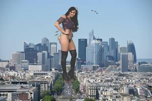 Giantess Jasmine Mendez by GangstaLilith2