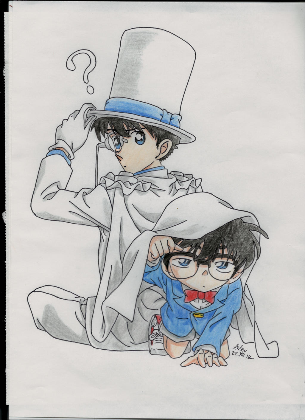 Kaito Kid and Conan ver color by LileoDark