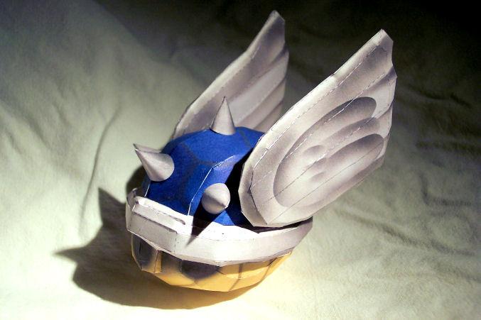MK Blue Shell Papercraft by kamibox